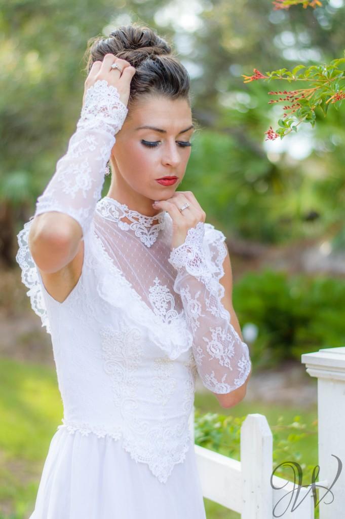 vintage bridal session